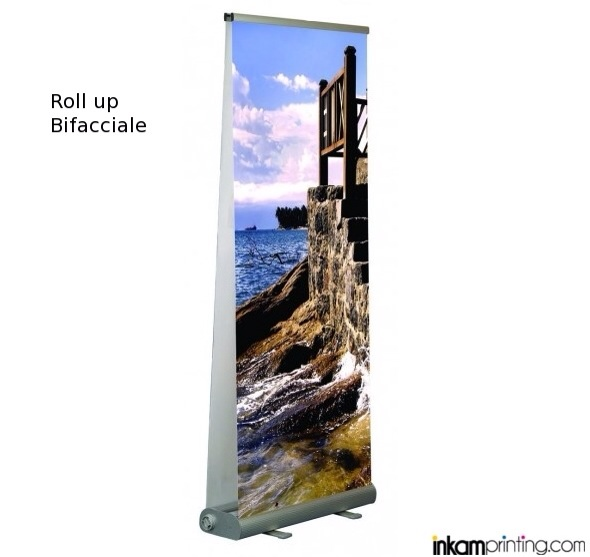 Roll up stand bifacciale