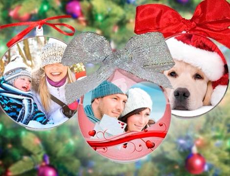 Stampa Foto Su Palline Di Natale.Pallina Di Natale Con Foto Inkamprinting Stampa Piccolo